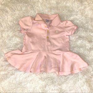 Ralph Lauren Pink Peplum T-shirt - Girls 9 months